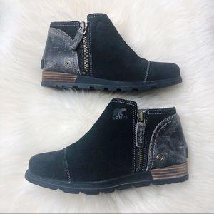 SOREL Major Low Leather Ankle Boot Booties Black